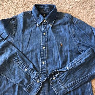 Ralph Lauren - Vintage ポロラルフローレン デニム長袖 ポニーロゴ ボタンダウンシャツ