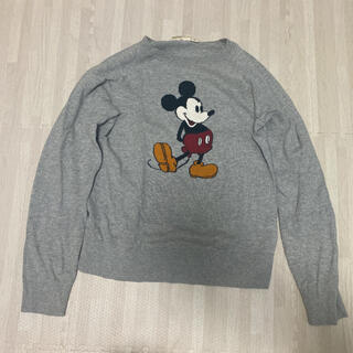 ユニクロ(UNIQLO)のミッキー Disney  キッズ ユニクロ グレー 160 セーター トップス(ニット)