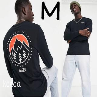 コロンビア(Columbia)のColumbia コロンビア ロンt 長袖 海外限定 黒 ブラック 海外Mサイズ(Tシャツ/カットソー(七分/長袖))