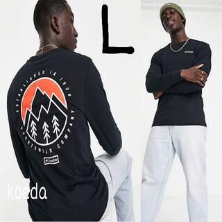 コロンビア(Columbia)のColumbia コロンビア ロンt 長袖 海外限定 黒 ブラック 海外Lサイズ(Tシャツ/カットソー(七分/長袖))