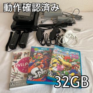 ウィーユー(Wii U)のWii U本体セット+ゲームソフト3本(家庭用ゲーム機本体)