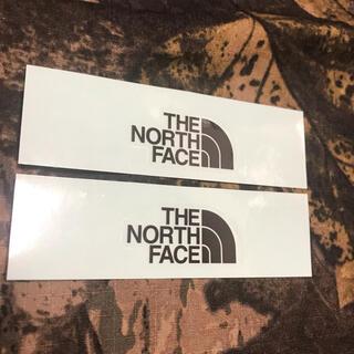 THE NORTH FACE - ★補強あり★新品未使用ノースフェイス ダイカットロゴ ミニステッカー2枚セット