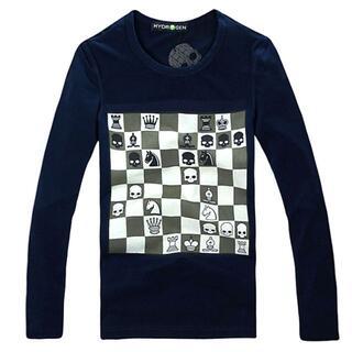 ★正規品(8CT7490NV)ハイドロゲン メンズ長袖Tシャツ【M】