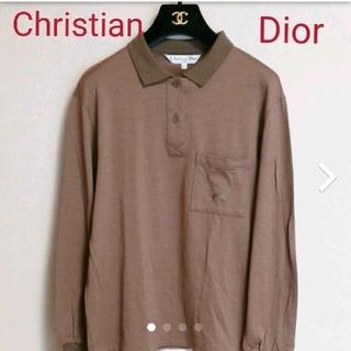 クリスチャンディオール(Christian Dior)のChristian Dior 秋色 ウール ポロシャツ L(ポロシャツ)