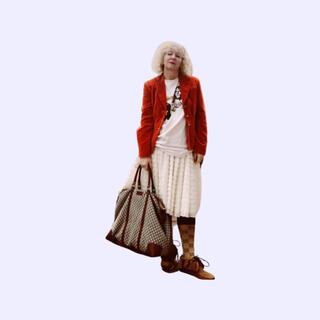 ロキエ(Lochie)のvintage ruffle skirt(ひざ丈スカート)