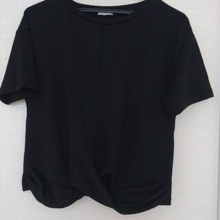 GU - GU トップス 黒色 半袖 Mサイズ