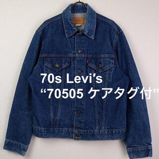 Levi's - 70s USA製 Levi′s 70505 ケアタグ付 Gジャン 濃紺 42 L