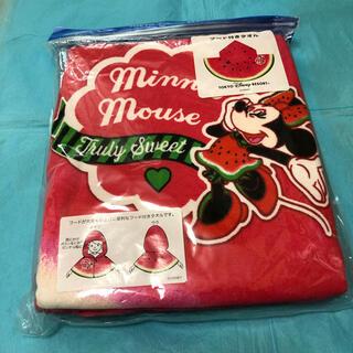 ミニーマウス(ミニーマウス)の☆未使用☆【TOKYO Disney RESORT】フード付きタオル(キャラクターグッズ)