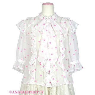 Angelic Pretty - AngelicPretty petitheartブラウス 白ピンク