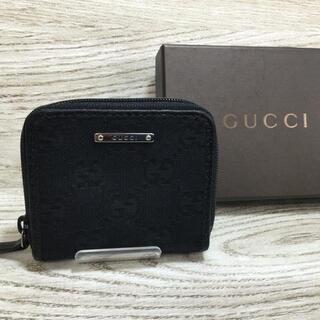 グッチ(Gucci)のGUCCI グッチ GGキャンパス ブラック コインケース 小銭入れ(コインケース/小銭入れ)