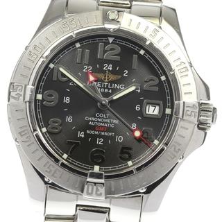 ブライトリング(BREITLING)の☆良品  ブライトリング コルト GMT デイト A32350 メンズ 【中古】(腕時計(アナログ))