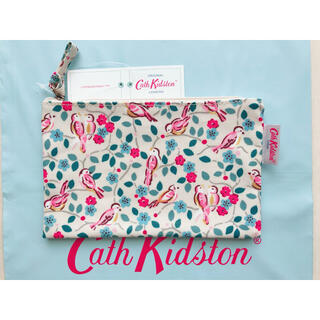 キャスキッドソン(Cath Kidston)の【新品未使用】キャスキッドソン ジップパース ペインテッドバード(ポーチ)