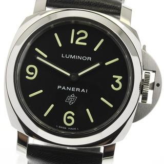 パネライ(PANERAI)の☆美品  パネライ ルミノールベース  PAM01000 メンズ 【中古】(腕時計(アナログ))