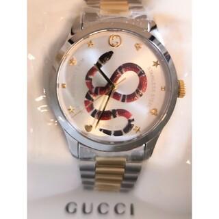 Gucci - 新品 GUCCI 腕時計 Gタイムレス スネーク ゴールド YA1264075