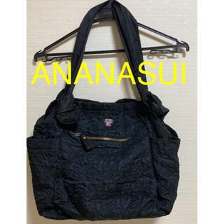 アナスイ(ANNA SUI)のANANASUI 2way バタフライ 刺繍 ブラック バック ショルダー(ハンドバッグ)