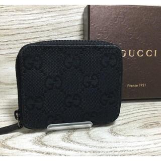 グッチ(Gucci)のGUCCI グッチ GG模様 ギャザータイプ コインケース 小銭入れ 美品(コインケース/小銭入れ)