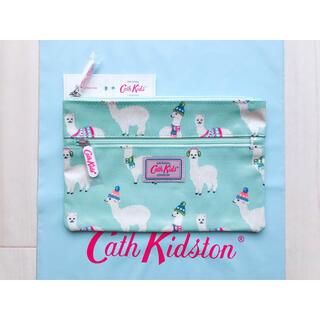 キャスキッドソン(Cath Kidston)の【新品未使用】キャスキッドソン キッズ ダブルジップペンシルケース アルパカ(ポーチ)