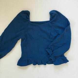 GRL - グレイル GRL コーデュロイ トップス ブルー