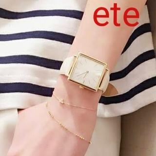ete - 【稼働品】ete エテ ボーイフレンドスクエア腕時計 ウォッチ