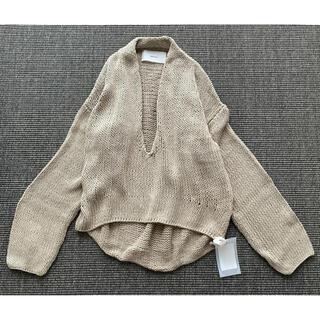 トゥデイフル(TODAYFUL)のH00953 TODAYFUL  トゥデイフル Uneck Hand Knit (ニット/セーター)
