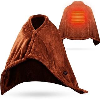 電気毛布 ブランケット ひざ掛け 肩掛け USB 温度調節 ダブル加厚 丸洗い