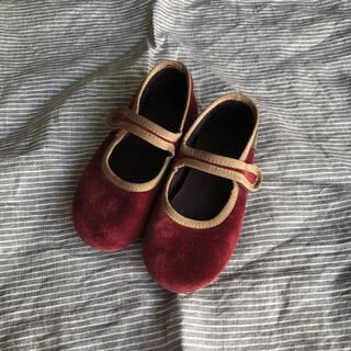 こどもビームス - シエンタ ベロア 靴 17cm 16cm