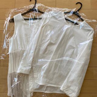 フレイアイディー(FRAY I.D)の極美品♡ELENDEEK♡ PLEATS SET BL ベージュ(シャツ/ブラウス(長袖/七分))