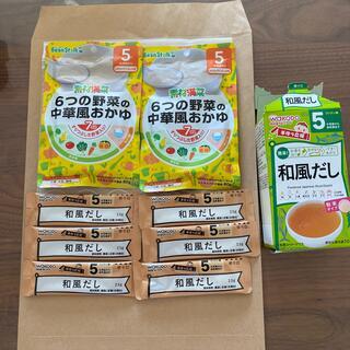和光堂 - 離乳食 5ヶ月〜 パウチお粥2P,和風だし6包