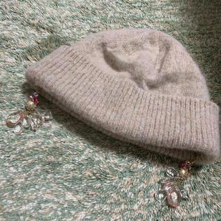 カシラ(CA4LA)のカシラ ニット帽 CA4LA イヤリング付き(ニット帽/ビーニー)