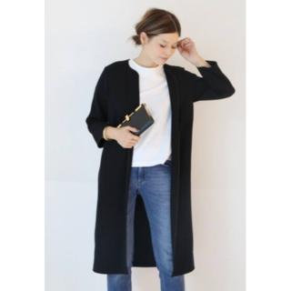 DEUXIEME CLASSE - ドゥーズィエムクラス MUSE トリアセ ジョーゼット コート 黒