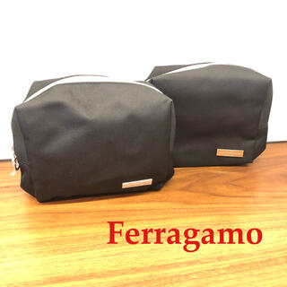 Salvatore Ferragamo - 新品 ferragamo フェラガモ ポーチ 黒 2個セット