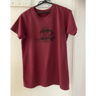 パタゴニア(patagonia)のパタゴニア ウイメンズ Tシャツ ダークルビー Mサイズ live simply(Tシャツ(半袖/袖なし))