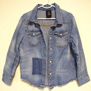 エイチアンドエム(H&M)のH&M ダメージ デニム シャツ 120cm(ジャケット/上着)