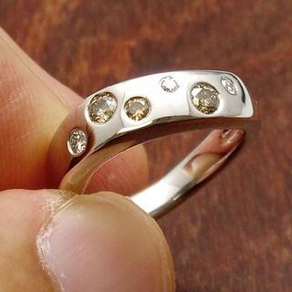 ヨンドシー(4℃)のひとつは欲しい!4℃です!K18WGダイヤリング 8号(リング(指輪))