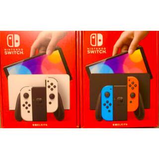 ニンテンドースイッチ(Nintendo Switch)の【新品・未使用】ニンテンドースイッチ 本体 有機EL ネオン ホワイト(家庭用ゲーム機本体)