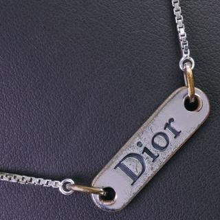 ディオール(Dior)のクリスチャンディオール 金属素材 シルバー レディース ネックレス(ネックレス)