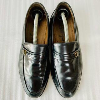 Saint Laurent - イヴ サンローラン 革靴 ローファー 黒 24.5cm 除菌・消臭済み