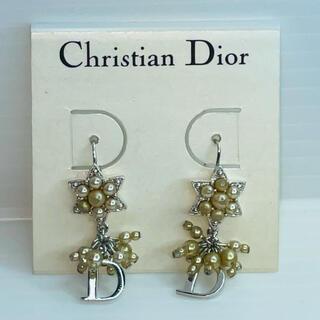 Christian Dior - ディオール Dロゴ Fパール ピアス