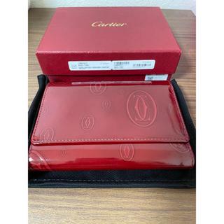 カルティエ(Cartier)のCartier 三つ折りカードケース 2C ロゴ(名刺入れ/定期入れ)