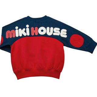 ミキハウス(mikihouse)の新品 ミキハウス トレーナー 90  バックロゴ ロゴトレーナー ロゴ(その他)