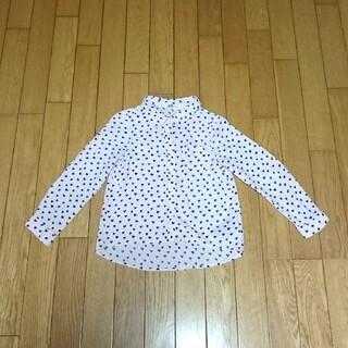 エイチアンドエム(H&M)のH&M キッズ 長袖シャツ 100 ピンク ハート柄 羽織り 薄手(ジャケット/上着)