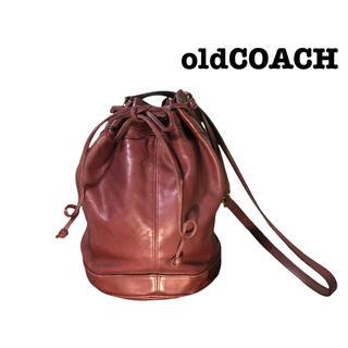 コーチ(COACH)のold COACH ワンショルダーバッグ 巾着 ワインレッド 大きめ ビッグ(ショルダーバッグ)