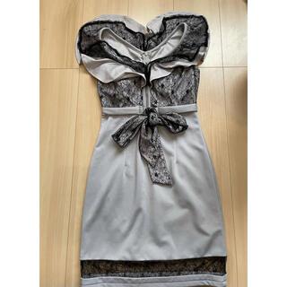 キャバ ワンピース ドレス グレー