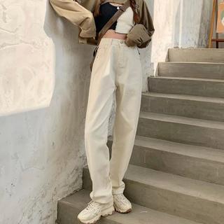 ディーホリック(dholic)の白デニムパンツ ホワイトデニムパンツ zara nugu dholic H&M(デニム/ジーンズ)