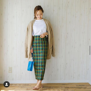 ドゥロワー(Drawer)のbluelea ブルレア チェックタイトスカート サイズXS(ひざ丈スカート)