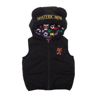 HYSTERIC MINI - ヒステリックミニ❤️ダウンベスト 黒 Mサイズ