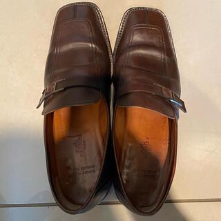 エルメス(Hermes)のエルメス革靴 茶革 モカシン【モントレー】 日本サイズ26.5センチ(ドレス/ビジネス)