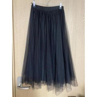 dholic - チュールスカート ブラック 黒 スカート