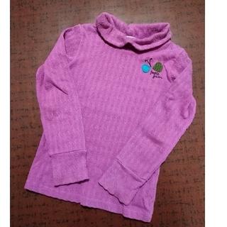 プチジャム(Petit jam)のpetit jam プチジャム オフタートル カットソー 120 紫 ちょうちょ(Tシャツ/カットソー)
