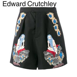 エドワード・クラッチリー 刺繍 ショートパンツ